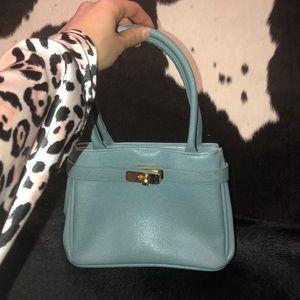 Handbags - Mini Kelly style retro handbag, Robin egg blue